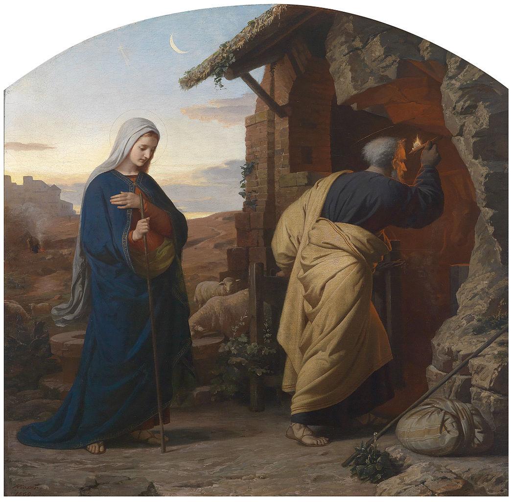 Sv. Josip (Michael Rieser - Am Abend vor Christi Geburt, 1869.)